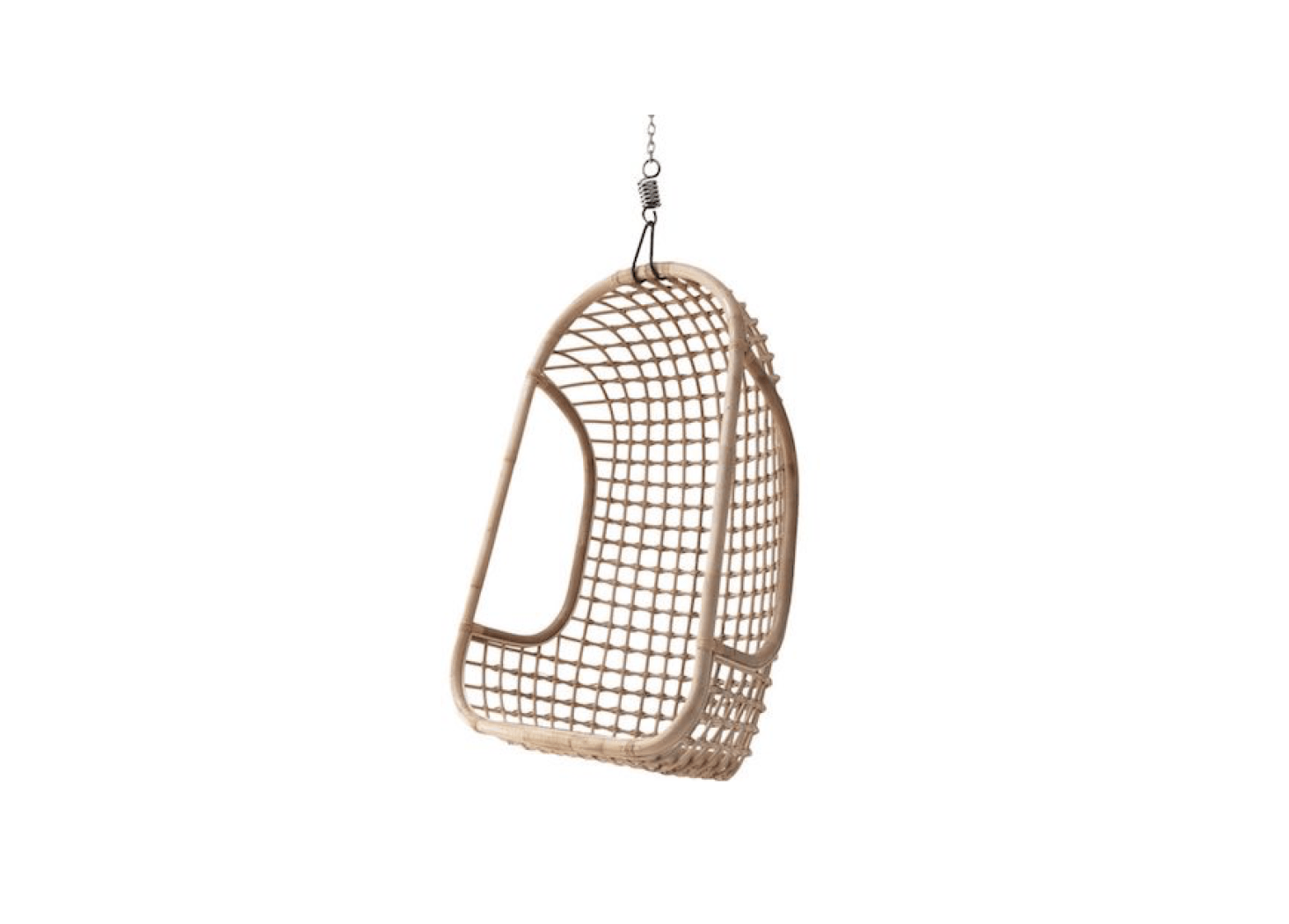Pleasing 10 Easy Pieces Rattan Hanging Chairs Gardenista Machost Co Dining Chair Design Ideas Machostcouk