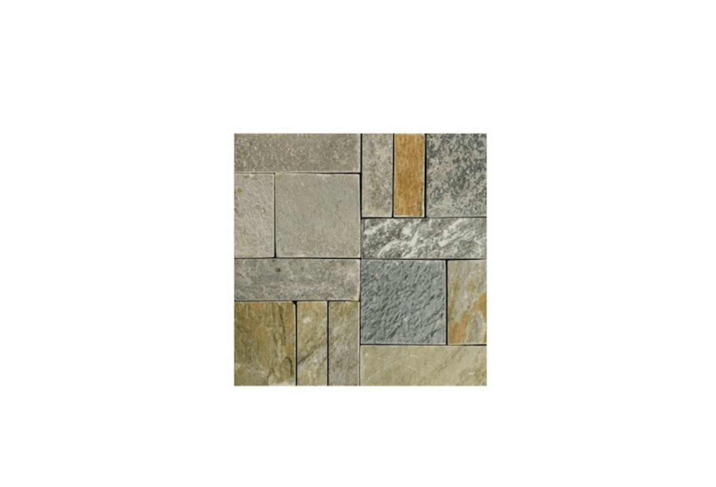 A Box Of Five Snap Together Stone Patio Tiles Is Available In Natural (shown