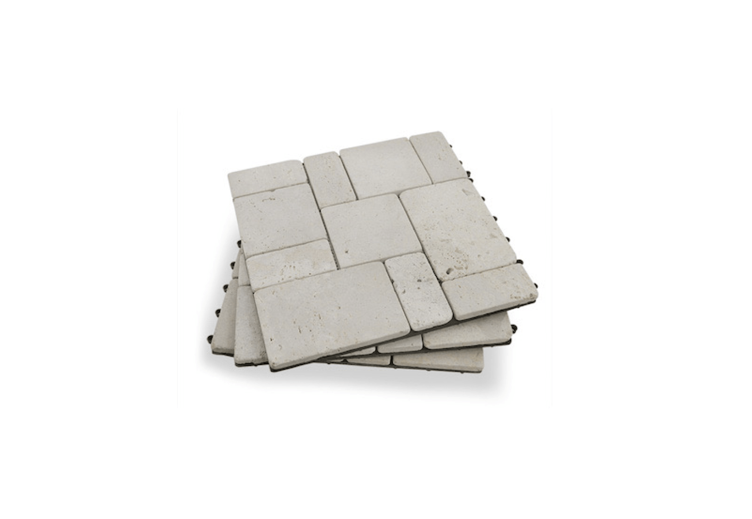 The 11.8 By 11.8 Inch Travertine Stone Deck Tiles With A Matte Finish