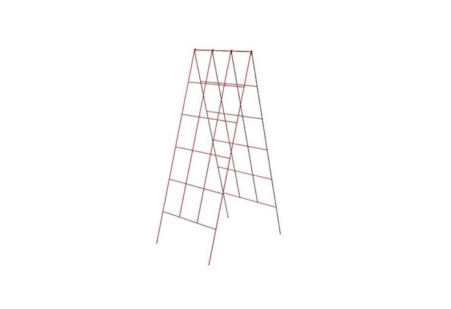 AFold Out A-Frame Vegetable Support is  inches wide (suitable for use in a four-by-four-foot raised garden bed) and is made from galvanized steel. It is $8.99 from Gardener&#8