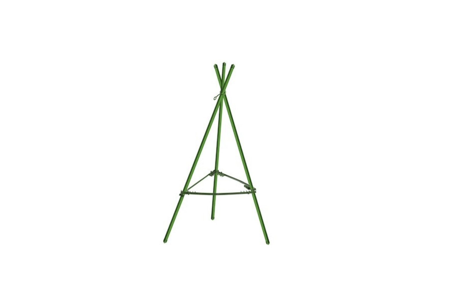 A triangularHeavy Duty Tomato Cage from Mr. Garden has .5-inch rust-resistant steel stakes (making it a suitable support for cherry tomato bushes); $.35 via Amazon.