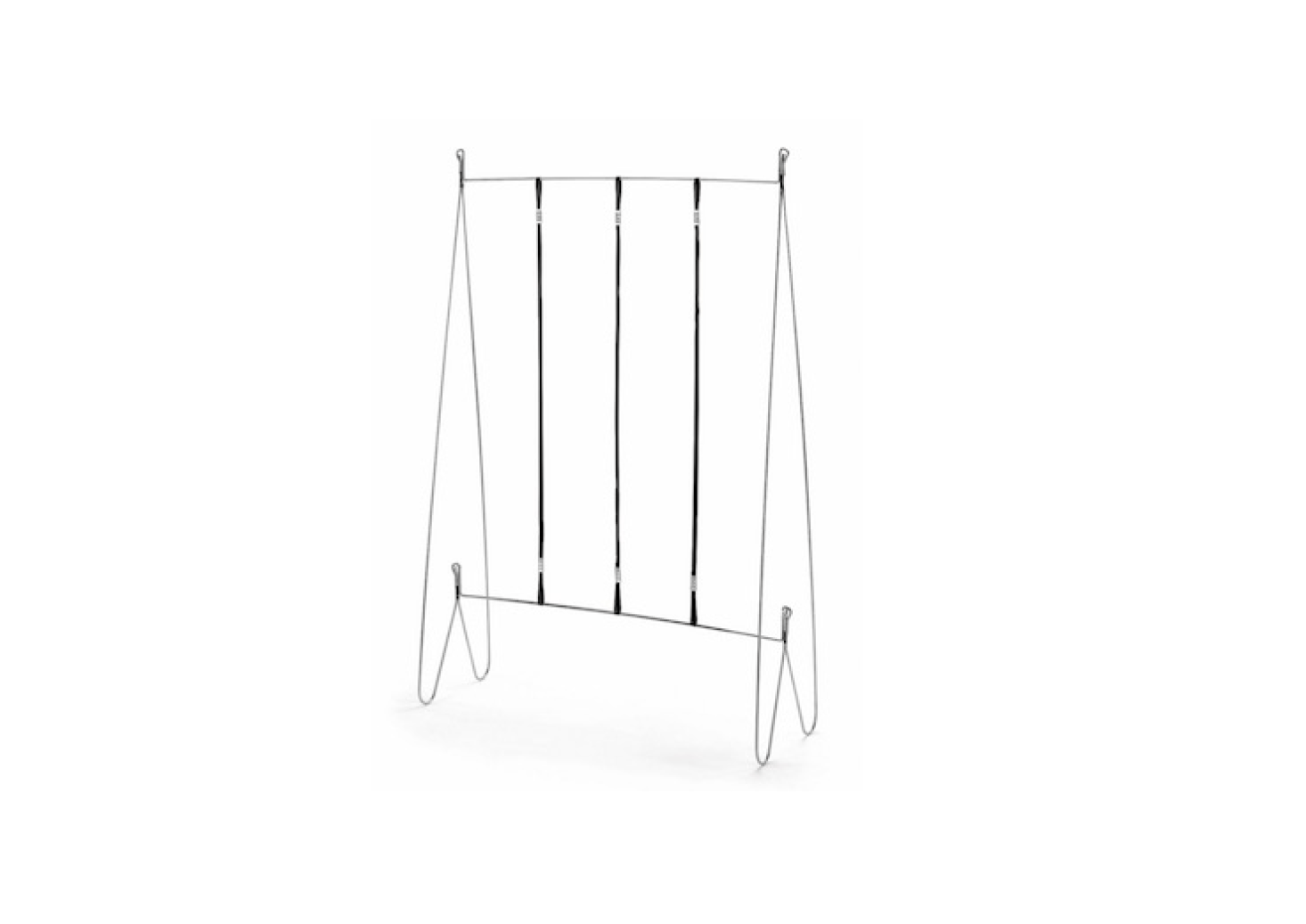A steel frameTrellis designed for growing container tomatoes on a balcony or in a small space has polypropylene cords for tomato vines to climb; €40. The trellis legs sit inside a window box or soft growing sack (a blackCotton Soil Sack Cover is sold separately for €35); both are available from Manufactum.