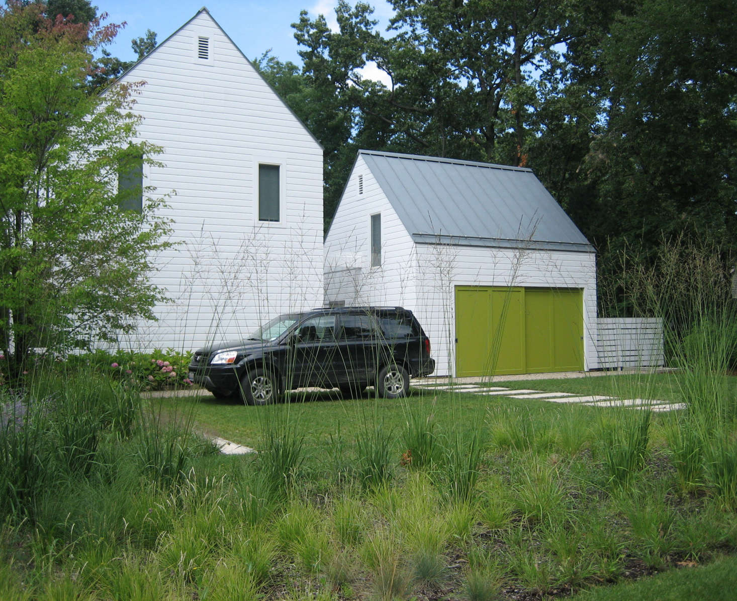 For more on this driveway with grass block pavers, see Landscape Architect Visit: A Classic Lake Michigan Summer House by Kettelkamp & Kettelkamp. Photograph courtesy of Kettelkamp & Kettelkamp.