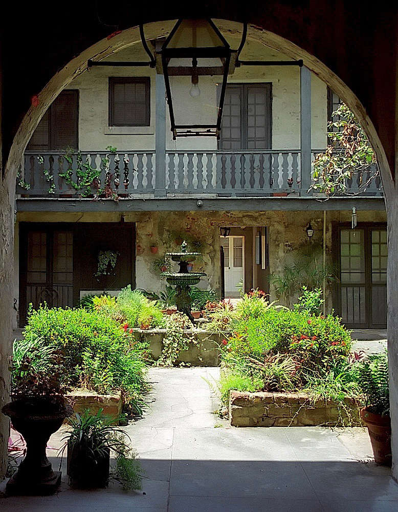 A Courtyard Garden In The French Quarter In New Orleans. Photograph By  David Ohmer Via