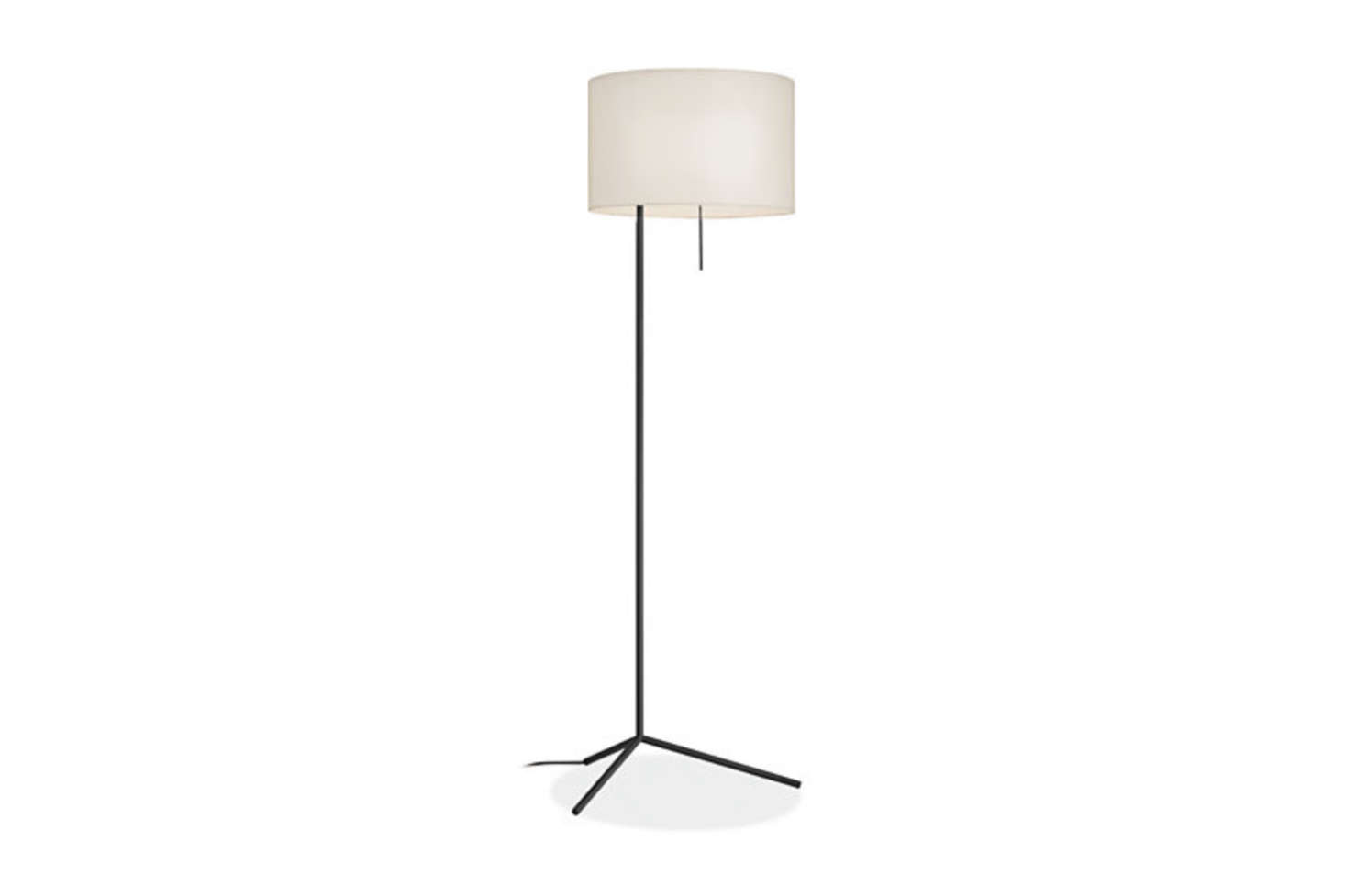 TheRoom & Board Crane Floor Lamphas a hand-welded base, a fabric cord, and a white fabric shade; $529.