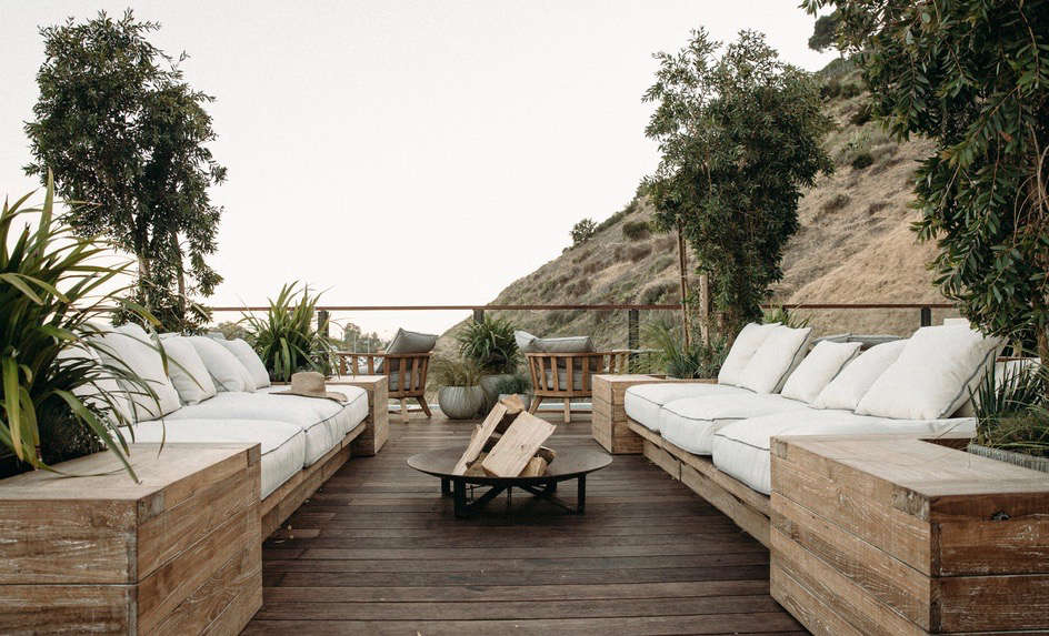 If you have white cushions, make sure they're not under bird-heavy trees. Photograph via The Surfrider, from Trending on Remodelista: 5 Design Ideas to Steal from the California Coast.
