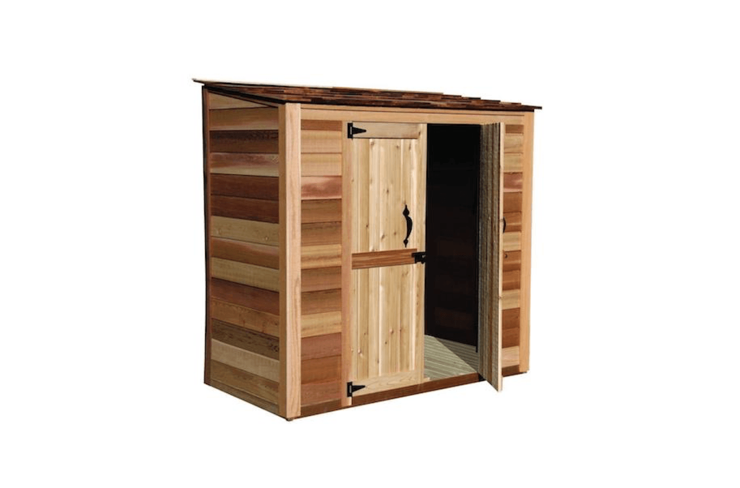 a grand garden chalet made of western red cedar measures 6 feet wide by 3 feet - Garden Shed Kits
