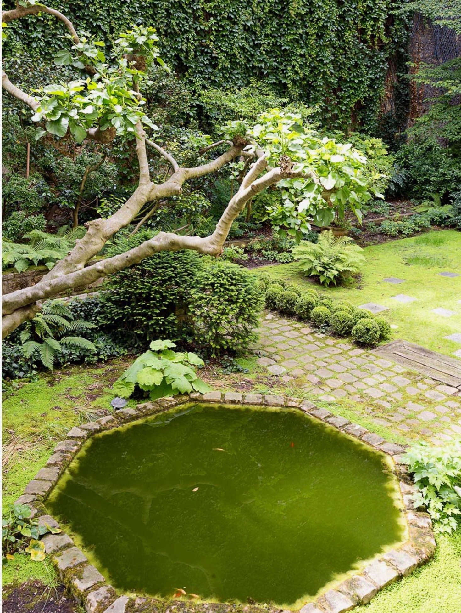Rudkin designed the octagonal pond. &#8