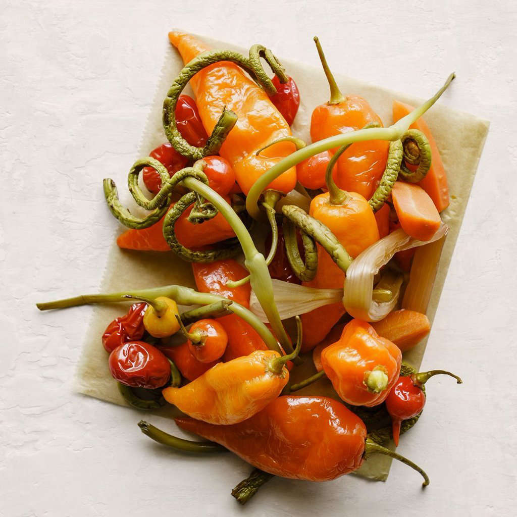 Produced in New York,  seeds of heatless Habanada Peppers is $3.50.