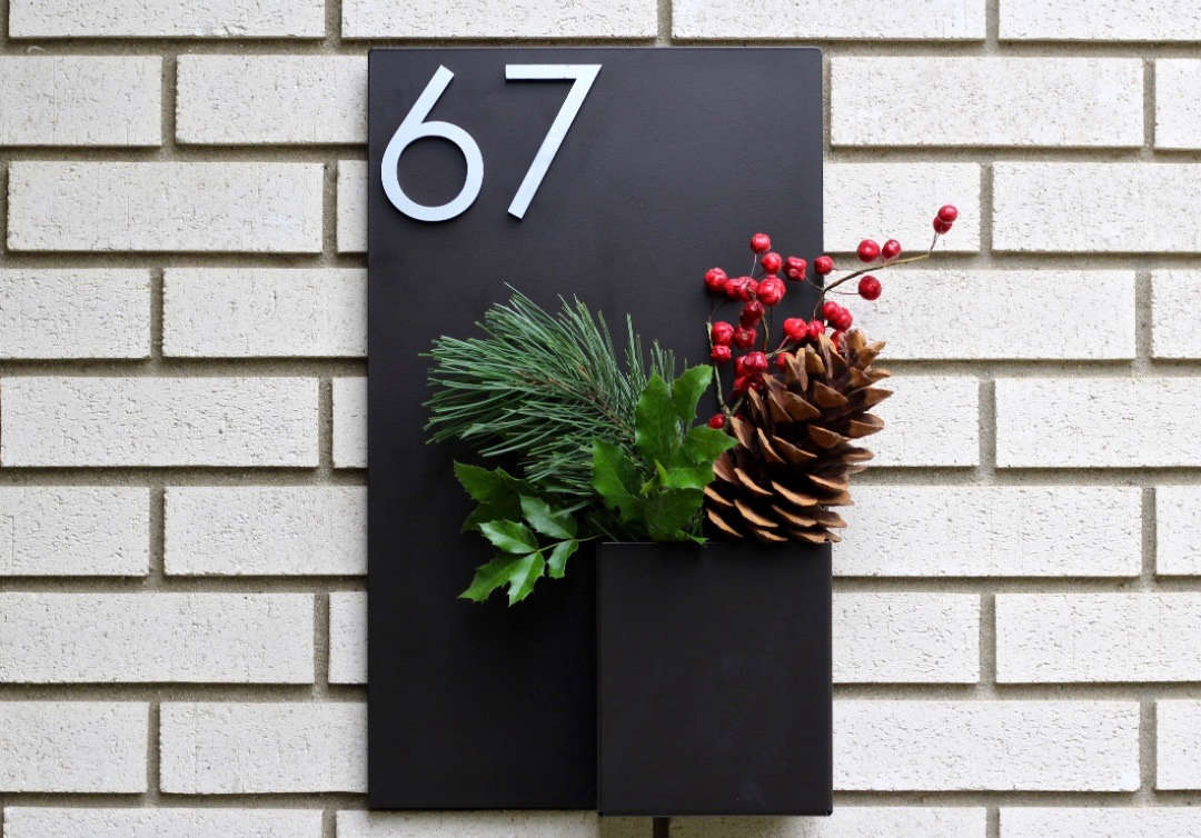 Object Of Desire House Numbers With Planters By Modern Aspect Gardenista