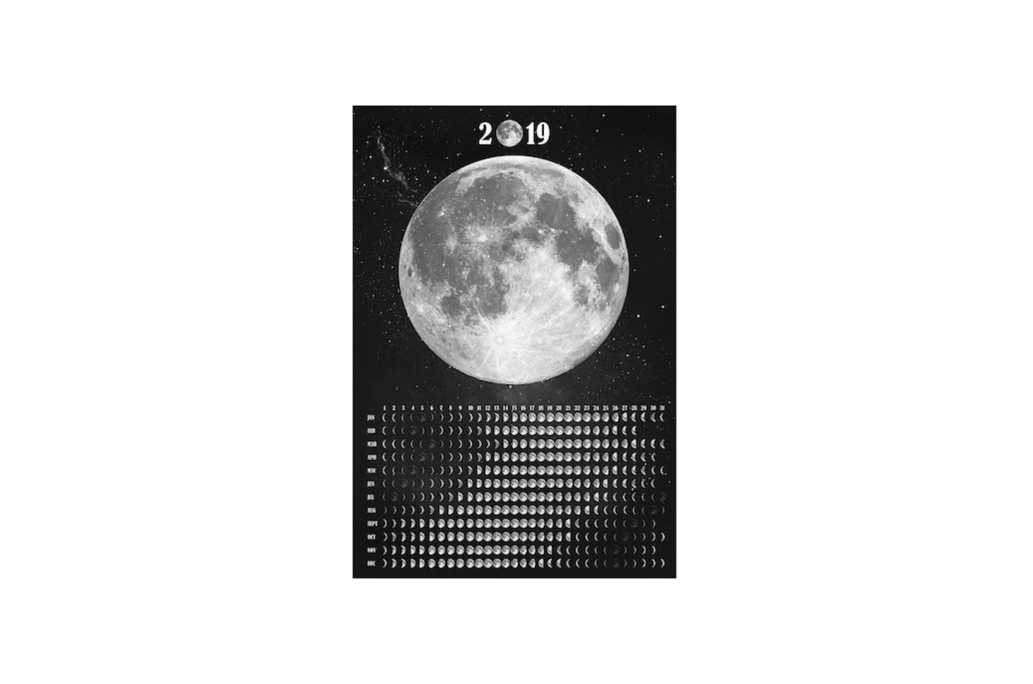A poster-style Moon Calendar  is available in four sizes at prices from $src=
