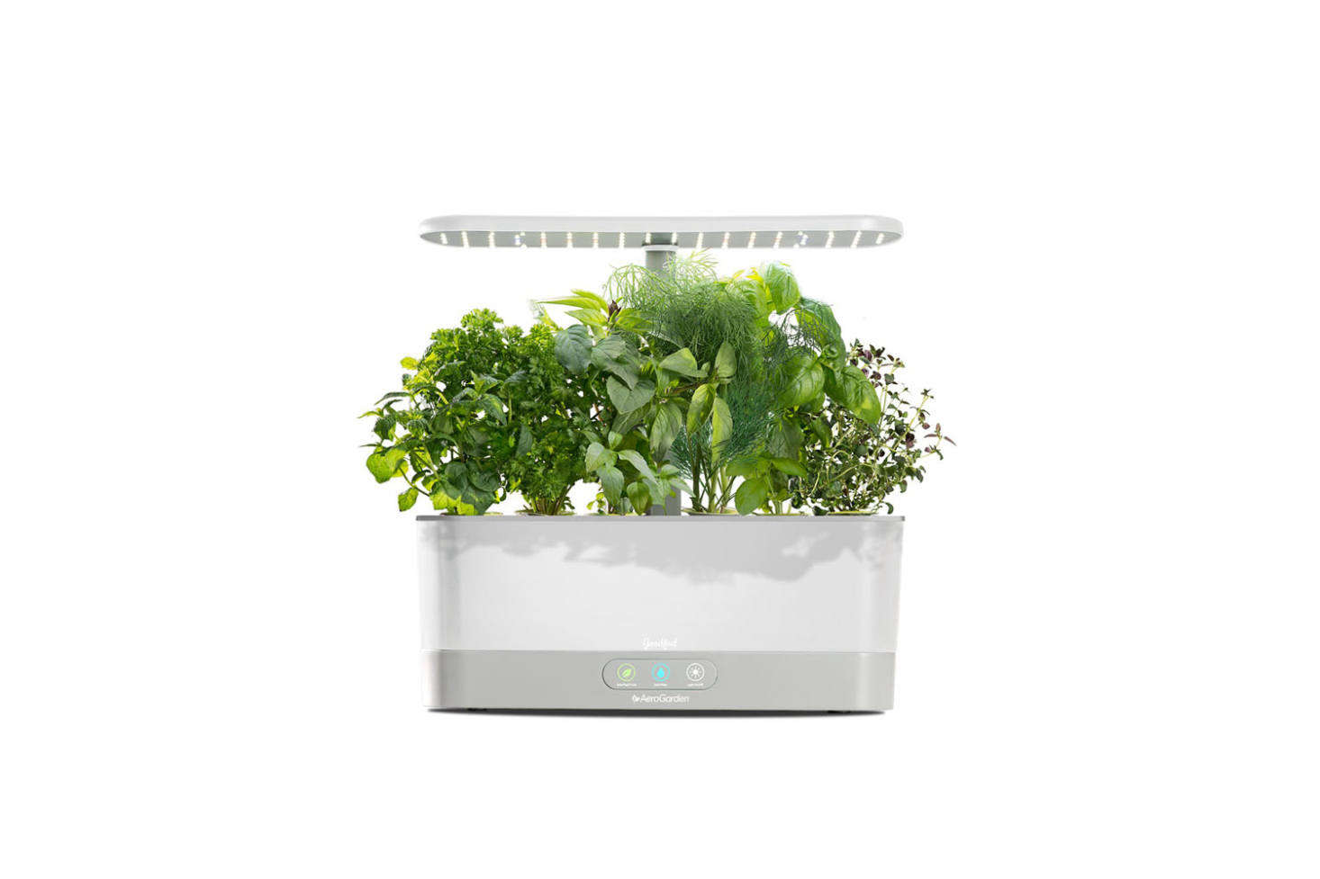 The Goodful Harvest Slim Countertop Garden & Gourmet Herbs Seed Kit is another model from AeroGarden but a little more simplified than the model featured previously. It&#8