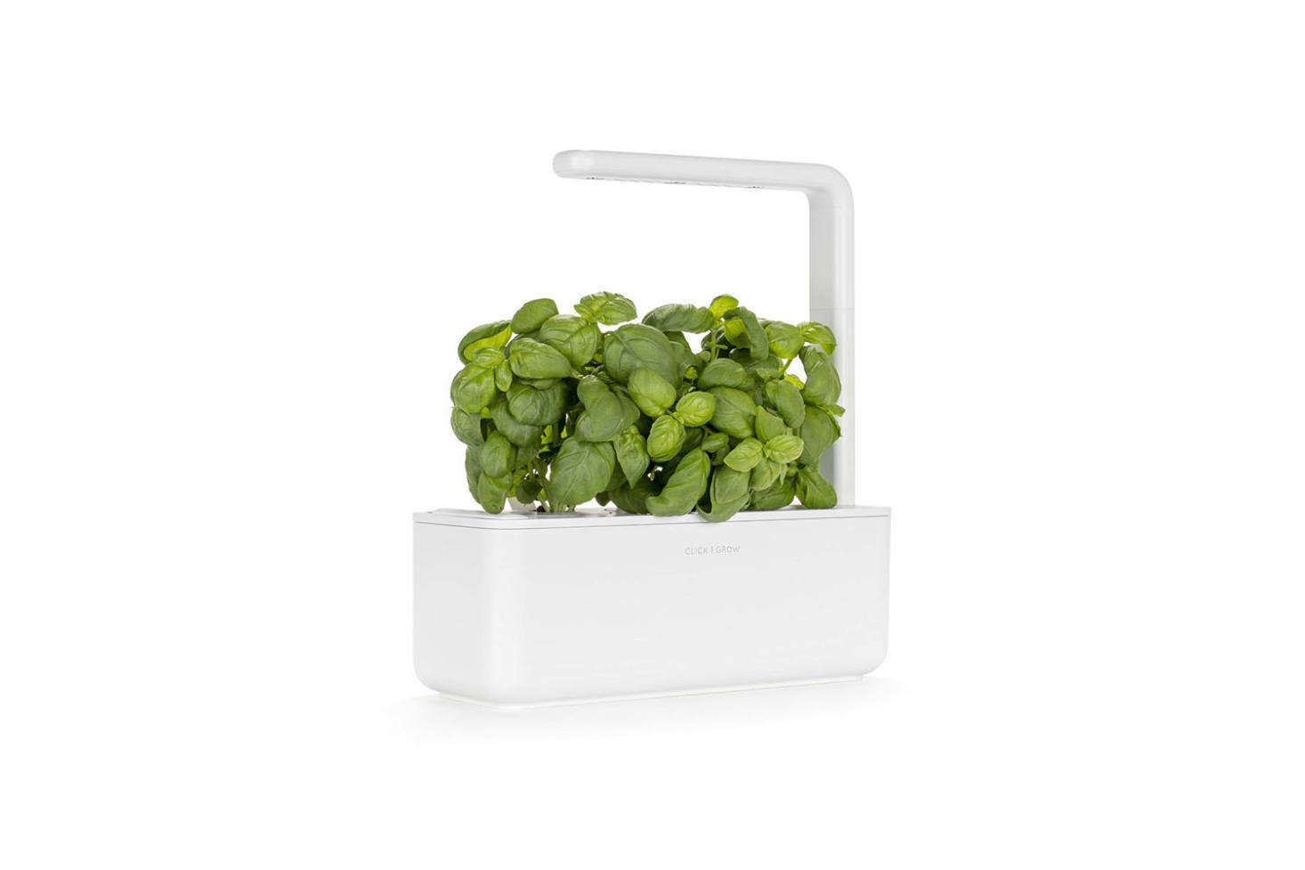 The Click & Grown Smart Garden 3 Indoor Gardening Kit comes with pre-seeded cartridges that drop into the basin and grow by way of &#8