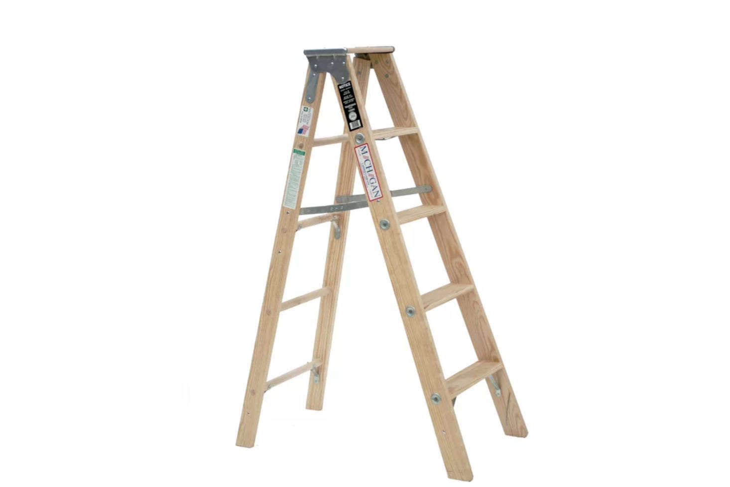 For a classic no-fuss wood ladder, the Michigan 5-Foot Wood Step Ladder is $src=