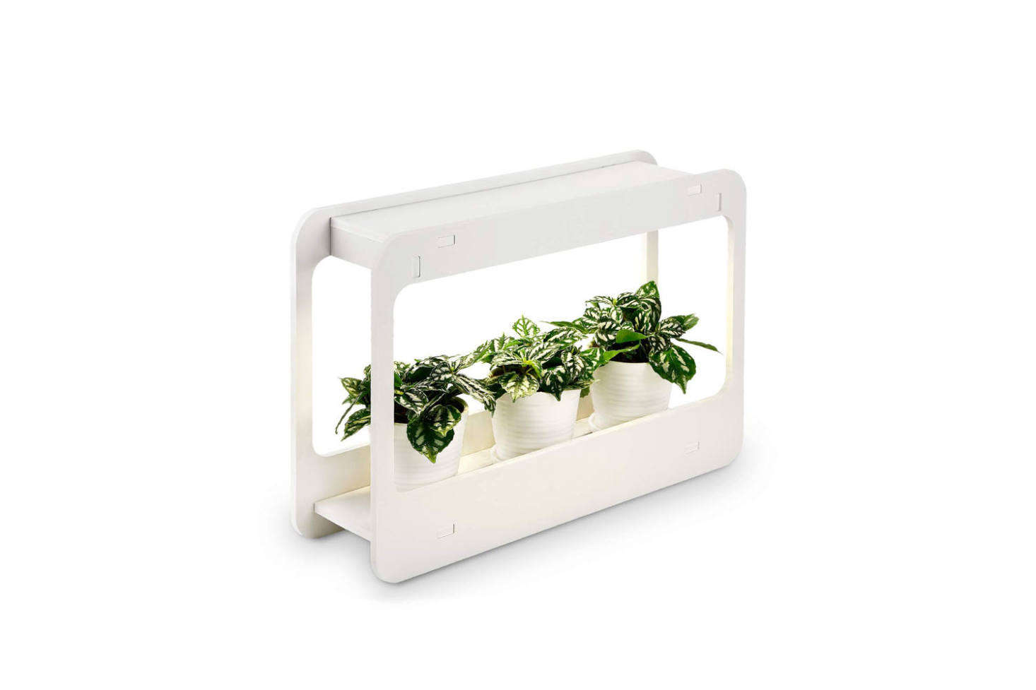 The Plant Grow LED Light Kit Indoor Herb Garden comes with a smart timer, a cool white light optimized for growing; $38.