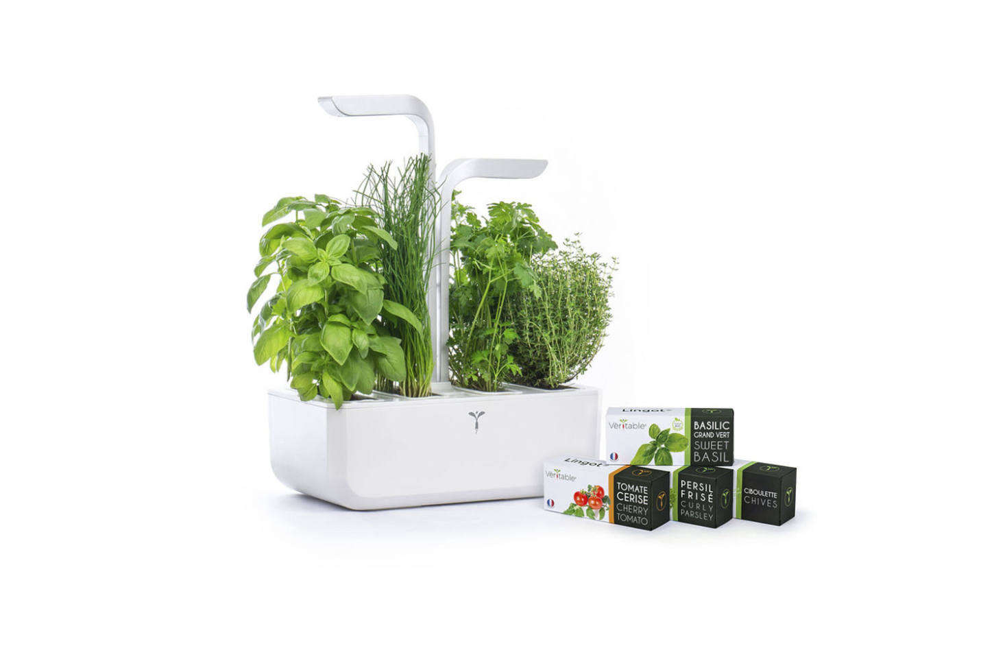 The Classic Veritable Garden is powered by an LED light and self-irrigates for up to three weeks (good for the itinerant gardener); $0 through Goop.