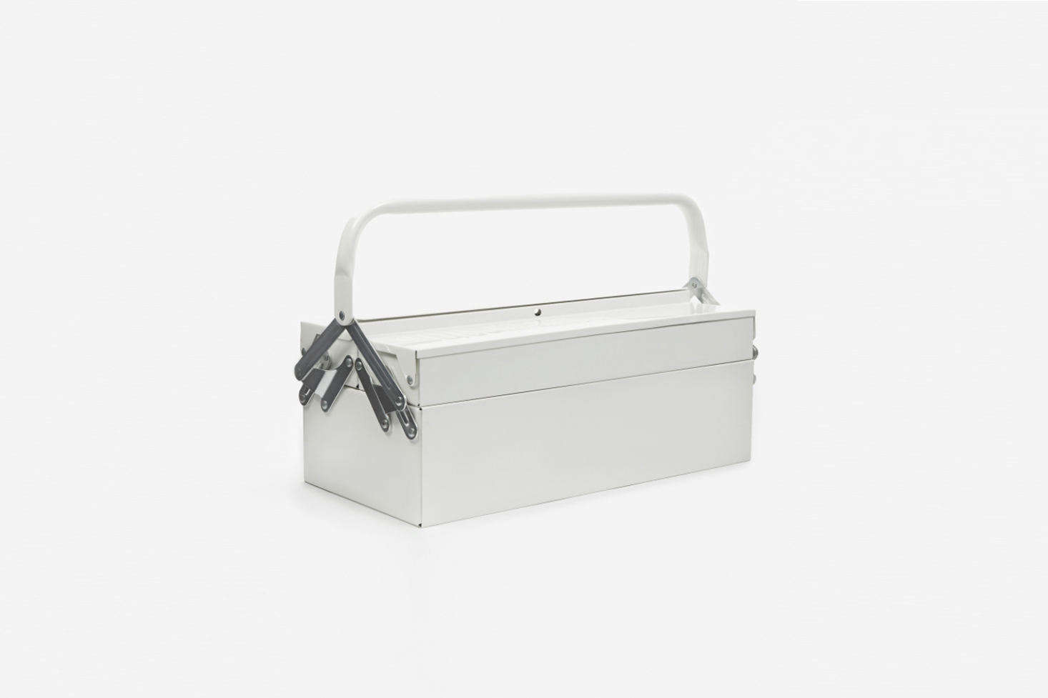 The House Doctor Toolbox in White is made entirely of white powder coated steel; $58.05 at Goodhood in London. It&#8