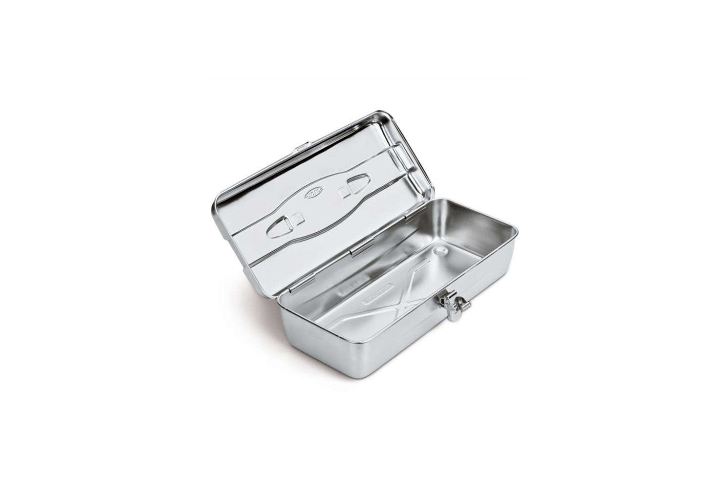 The Stainless Steel Toolbox from Japan measures 4.5 by  by 7 inches is $8 at Manufactum in Germany.