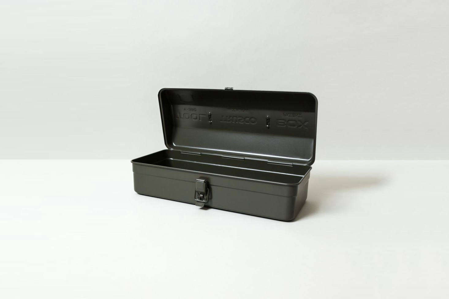 The classic Japanese Trusco Tool Box Y-350 comes in blue, olive (shown), or silver for $46 at Rikumo.