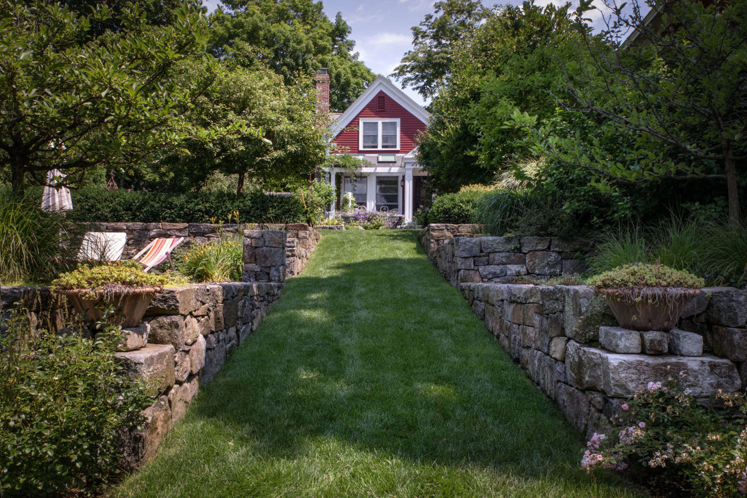Photograph by Justine Hand, from Landscape Designer Visit: A Charming Cottage Garden Outside of Boston.