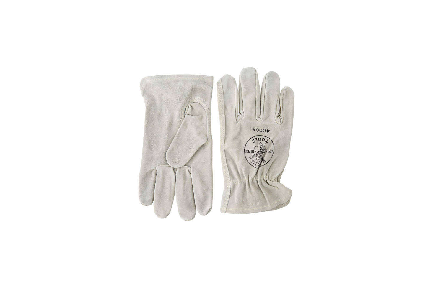 The Klein Tools 40004 Cowhide Driver's Gloves made of white sueded cowhide are available in medium and large for $16.06 on Amazon Prime. (The small size is available from other sellers on Amazon that aren't associated with Prime shipping.)
