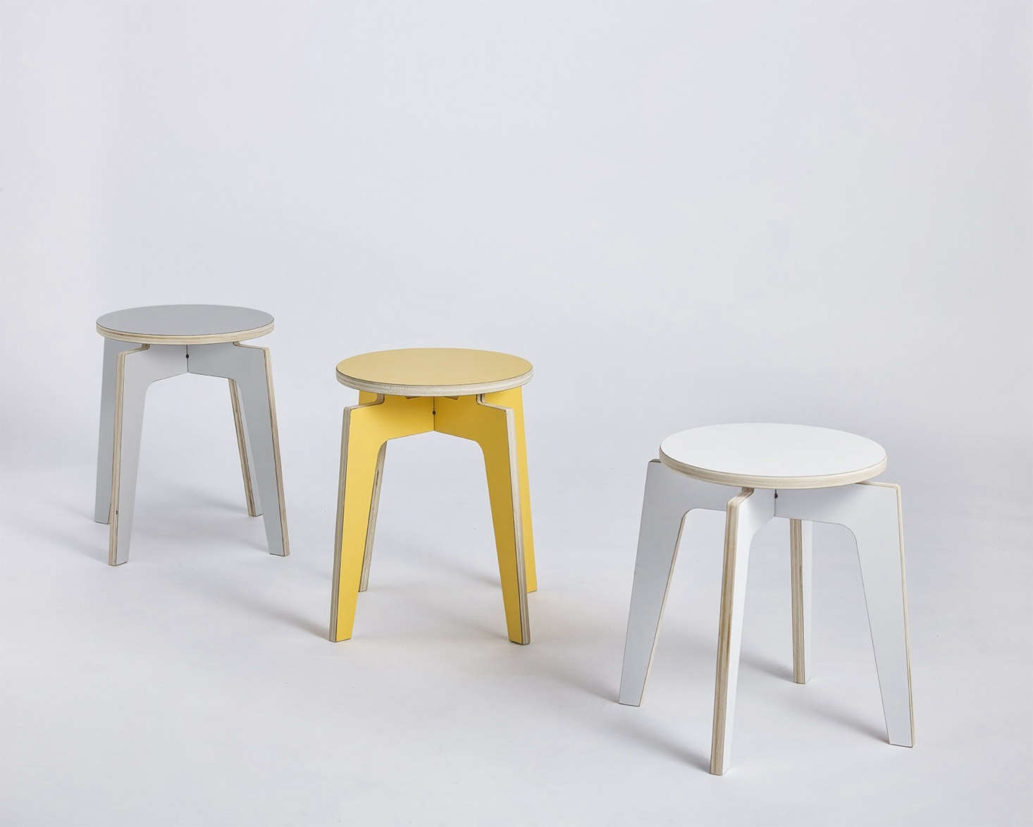 The company's multi-purposeStools, which come in these three colors, would also make great plant stands; from $122.