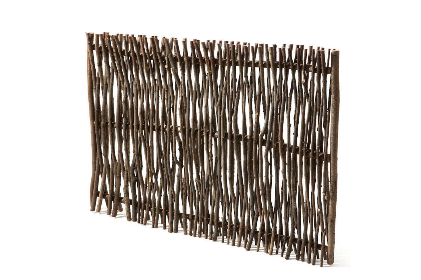 The rustic Privacy Screen Made of Hazel Switches is €167 at Manufactum.