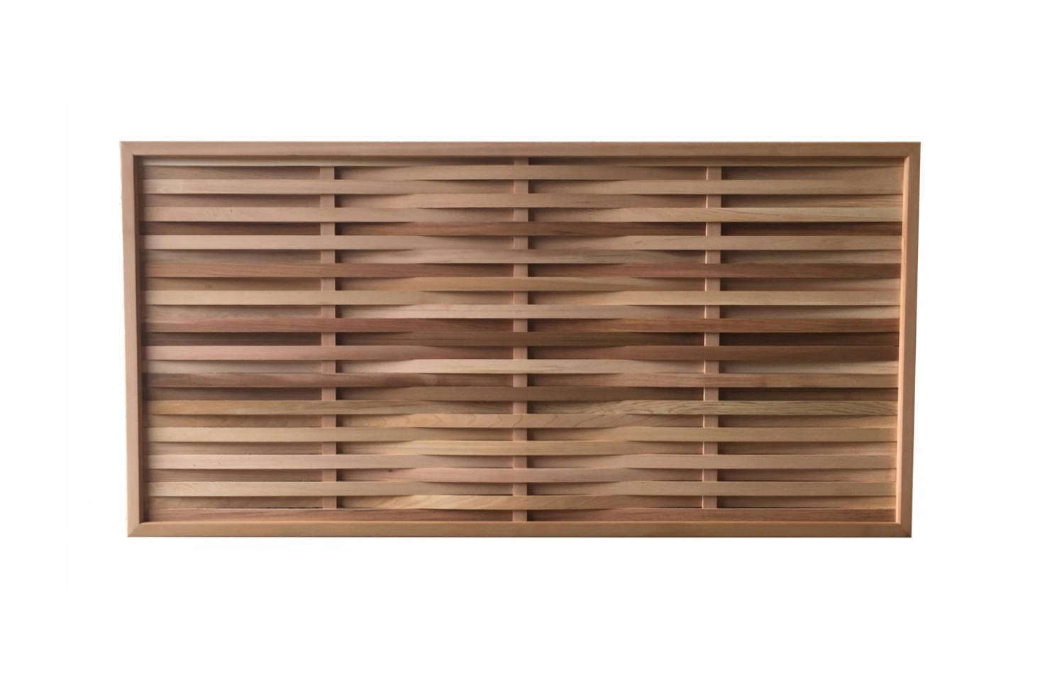 The Western Red Cedar Prestige Weave Panels are £163 to £344 atGarden Trellis Co.
