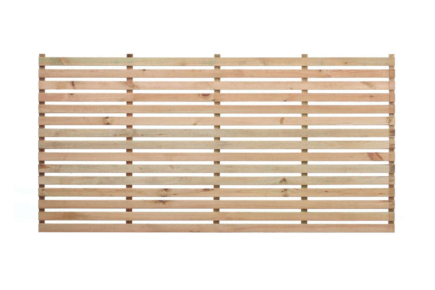 The Wide Slatted Panel from The Garden Trellis Co. comes in a natural unpainted finish (shown) or in stained or painted wood; £28 to £59 depending on length.