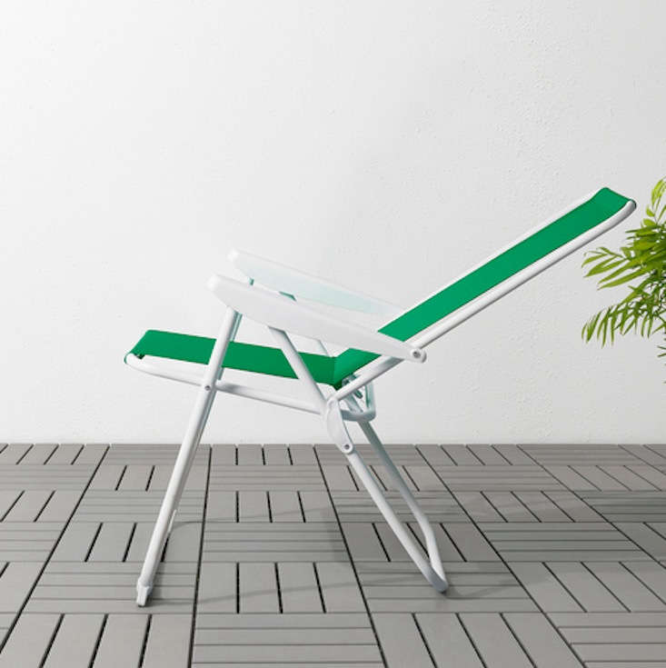 The HÅMÖ lawn chair reclines to be adjusted to five different positions; $24.99.