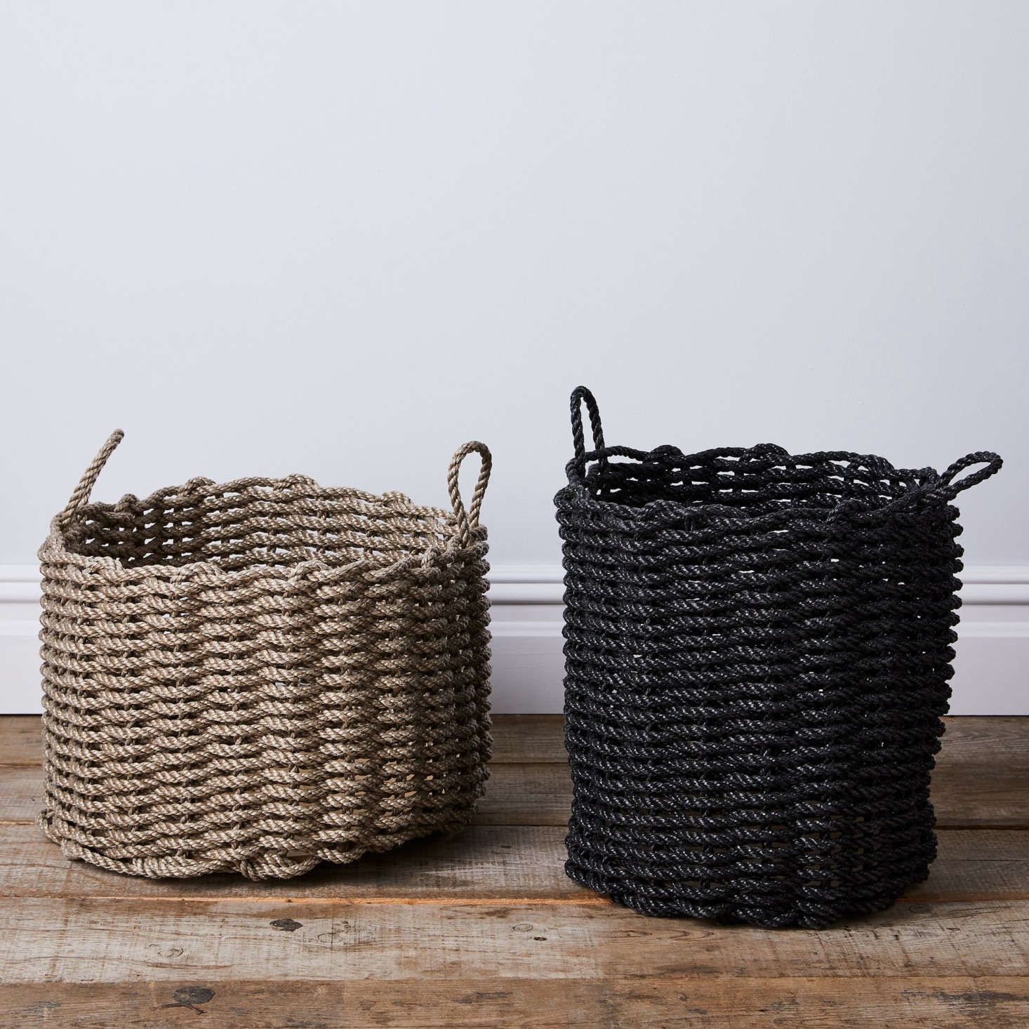 These sturdy, tough, and surprisingly chic baskets can be used indoors or out. See Made in Maine: Rugged Baskets and Doormats Woven From Nautical Rope.