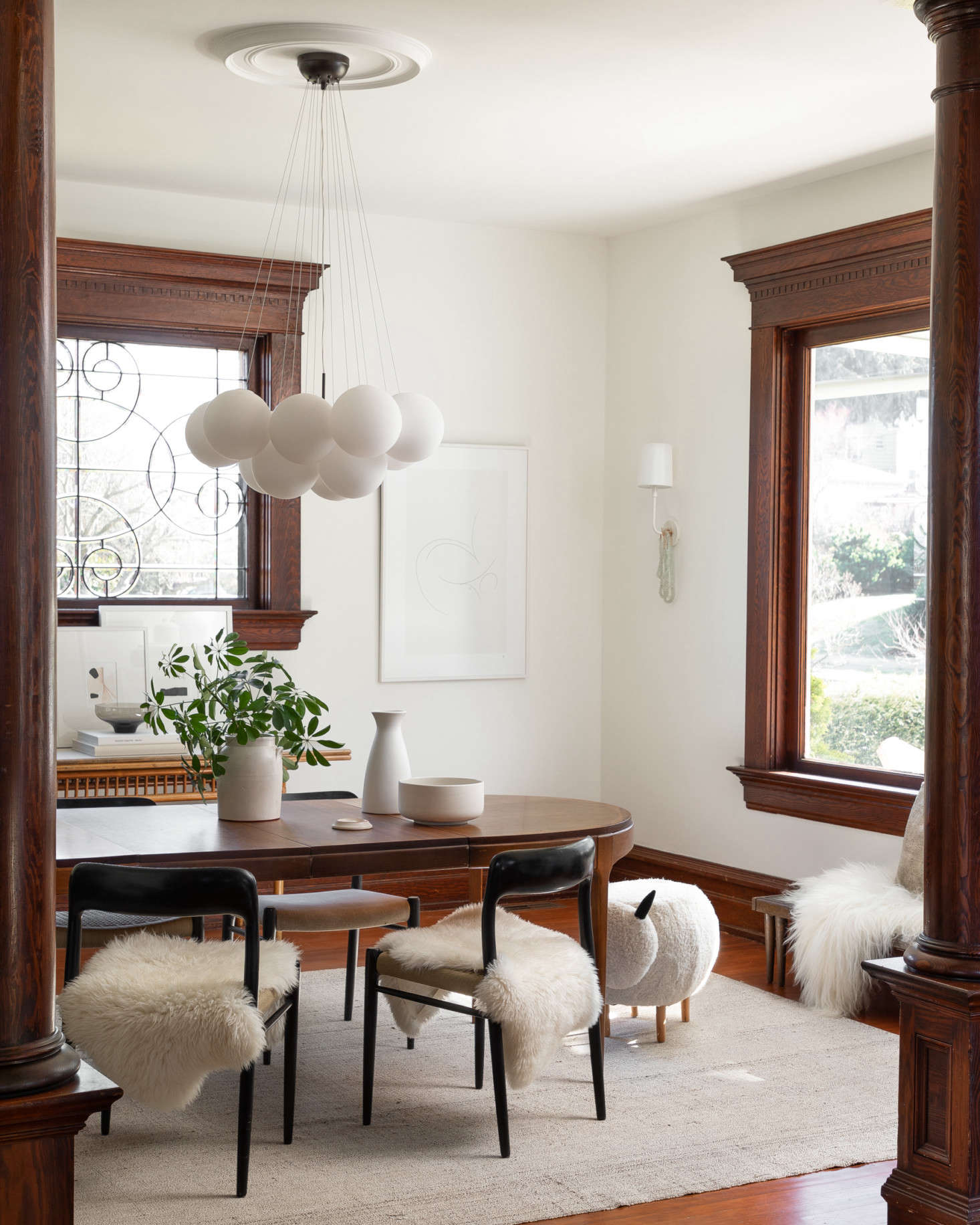 Photograph by Haris Kenjar, courtesy of Lisa Staton Interior Design, from Washington State Four Square: The Client Got Hired by Her Designer Thanks to this Project.