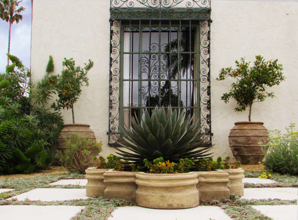A Garden Befitting the Spanish Colonial Style of the House